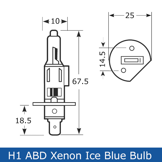 H1 55W Ice Blue Bulbs Rated At 6500K These Are A Great Colour Match Bulb To Xenon HID Kits