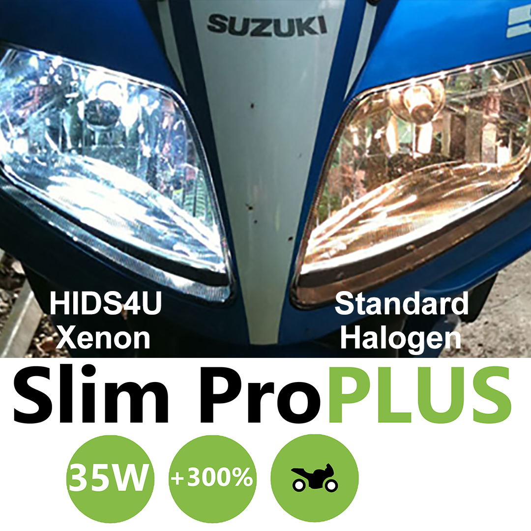 H4 HIDS4U SLIM 35W HID Xenon Conversion for Motorcycles