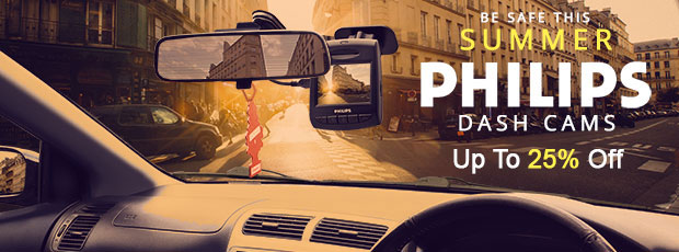 Bring the best out of summer with Philips Dash Cams